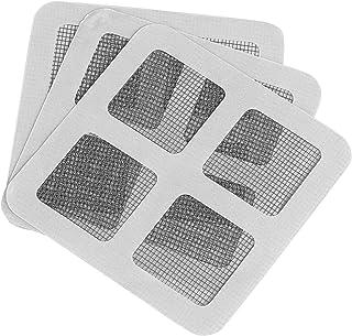 GWHOLE 網戸補修テープ 網戸パッチ 両面テープ付き 張り替え ガラス繊維メッシュタイプテープ 防水 強粘着性 虫よけ 通気性良い グレー21枚入れ
