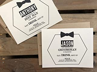 your service as a groomsman is requested