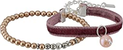 Chan Luu Velvet Adjustable and Pearl Stretch Bracelets