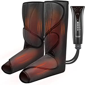 FIT KING Upgraded Leg & Foot Massager with Heat, Foot and Calf Massager for Circulation and Pain Relief with 3 Modes 3 Intensities and Optional 2 Heating Levels FT-057A