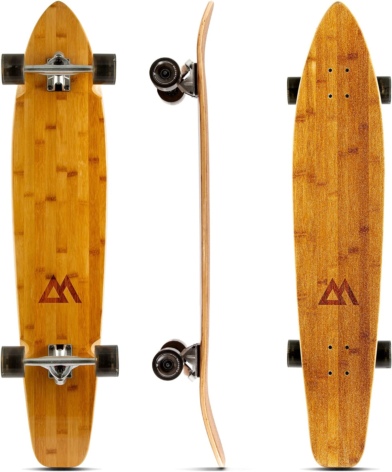 Magneto 44 inch Kicktail Cruiser Longboard Skateboard | Bamboo and Hard Maple Deck | Made for Adults, Teens, and Kids …