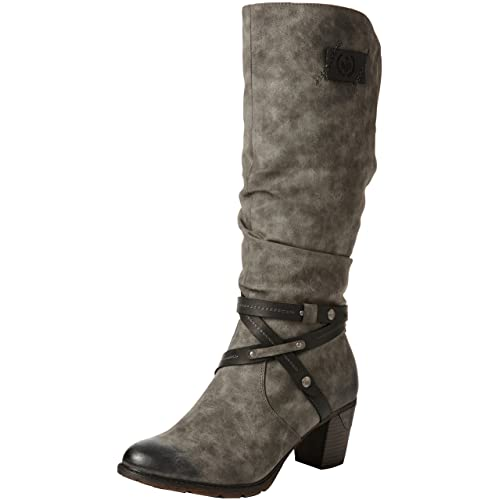 2eb1e305c487 Rieker Women Boots grey, (smoke black) 96054-45
