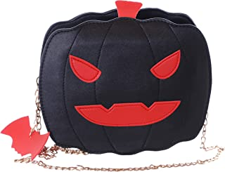 Kawaii-Story LB-6018-2 Schwarz Grusel Kürbis Halloween Party Umhänge Damen Tasche Kettenriemen