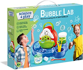 Clementoni 61898 Clementoni-61898-Science and Play-Soap Bubble-Science Toy-Laboratory and esperiment kit for Kids from 8 Y...