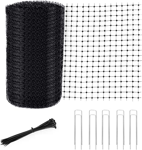 lowest Garden Netting Kit, Bird Netting - 7 x 100FT Heavy Duty Reusable sale Woven Mesh Durable Net with 50 Cable Ties and 10 U-Shaped Garden Pegs, Protect Plants Fruits Flowers Trees Stops Animals 2021 - Deer Fencing sale