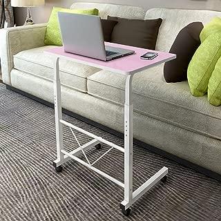 """24"""" Mobile Laptop Desk Cart (Pink)"""