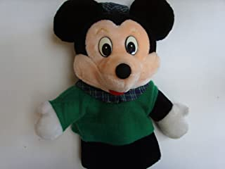 "Mickey Mouse Hand Puppet 12"" Vintage Plush Creative Toy"
