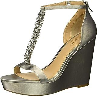 f52cc04a56910 Amazon.com: Silver Women's Wedge & Platform Sandals
