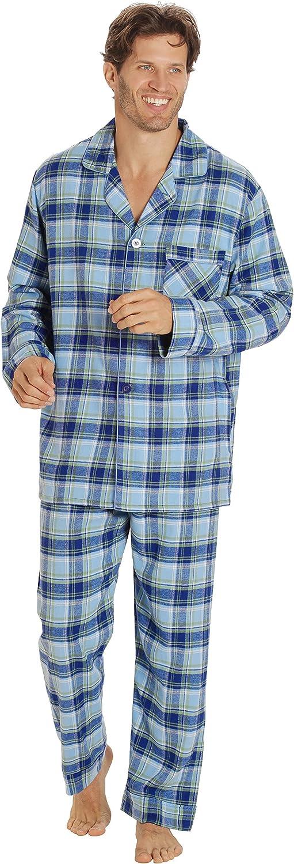 EverDream Sleepwear Mens Flannel Pajamas, Long 100% Cotton Pj Set