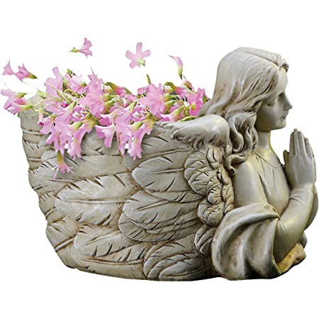 """Joseph's Studio by Roman - Collection, 6.5"""" H Angel Wing Planter, Made from Resin, High Level of Craftsmanship and Attention to Detail, Durable and Long Lasting"""