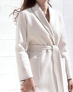 Kwangnew 10% Cashmere 90% Wool Blended Handmade Shawl Collar Coat