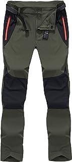 شلوار کار در فضای باز مردانه BIYLACLESEN جیب زیپ شلوار پیاده روی سبک وزن قابل تنفس تنفس سریع