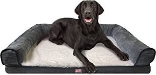 Animal Planet Orthopedic Luxury Dog Bed - Premium Memory Foam Pet Dog Sofa Bed Lounger with Washable Cover, Large and Jumbo - for Dogs & Cats