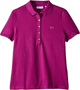Short Sleeve Slim Fit Stretch Pique Polo Shirt