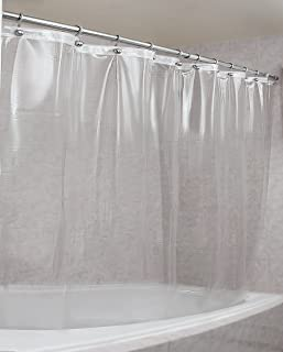 Epica Strongest Mildew Resistant Shower Curtain Liner on the Market-100% Anti-Bacterial 10 Gauge Heavy Duty Liner-Waterproof-72x72 Inches-Clear