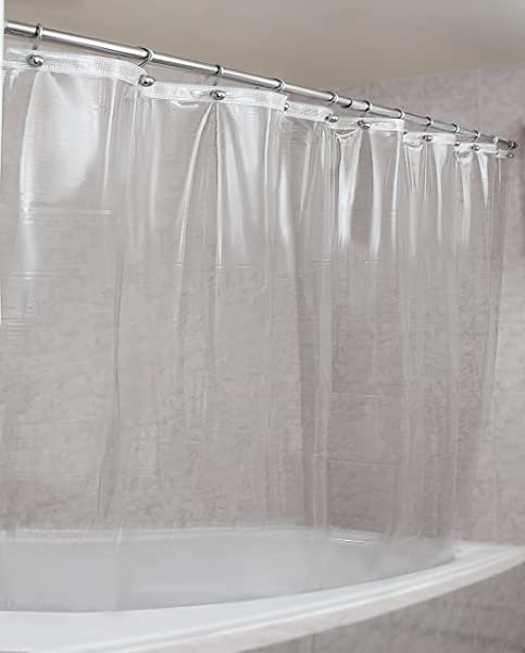 Epica Strongest Mildew Resistant Shower Curtain Liner On The Market 100 Anti Bacterial 10 Gauge Heavy Duty Liner Waterproof 72x72 Inches Clear