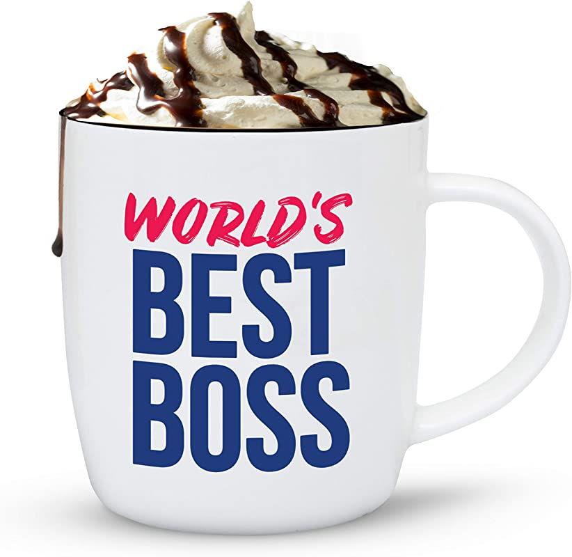 Gifffted The Worlds Best Boss Ever Coffee Mug Bosses Day Gifts Ideas Funny Present For My Greatest Boss Male Or Female Men Women Great Office Gift Mugs Birthday Leaving Bold Cup 13 Oz