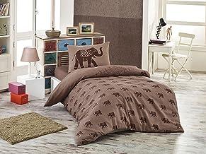 Eponj Home Single Quilt Cover Set - Duvet Cover: 155 x 200 cm Pillowcase: 50 x 80 cm (1 Piece)