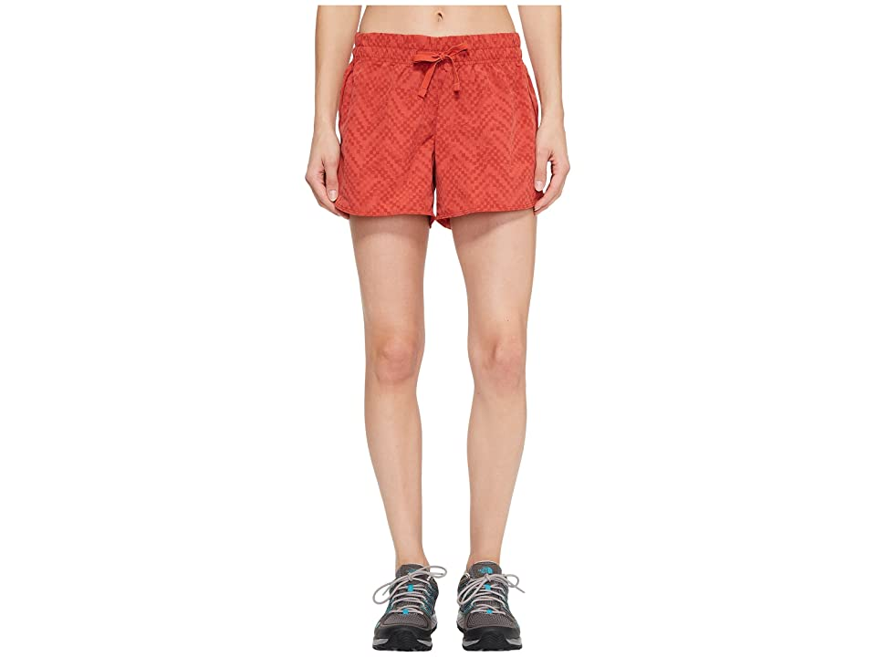 The North Face Class V Shorts (Sunbaked Red Chevron Print) Women