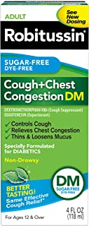 Robitussin Cough + Congestion DM Sugar/Dye-Free, 4 Ounce