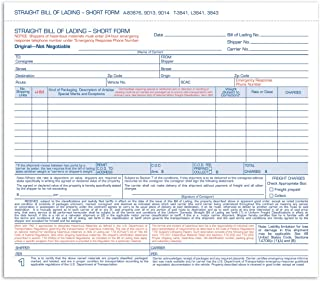Adams Bill of Lading Form, Simplified Format, 3 Part, Carbonless, 8.5 x 7.63 Inches, 250 Sets per Box, White (L3841)