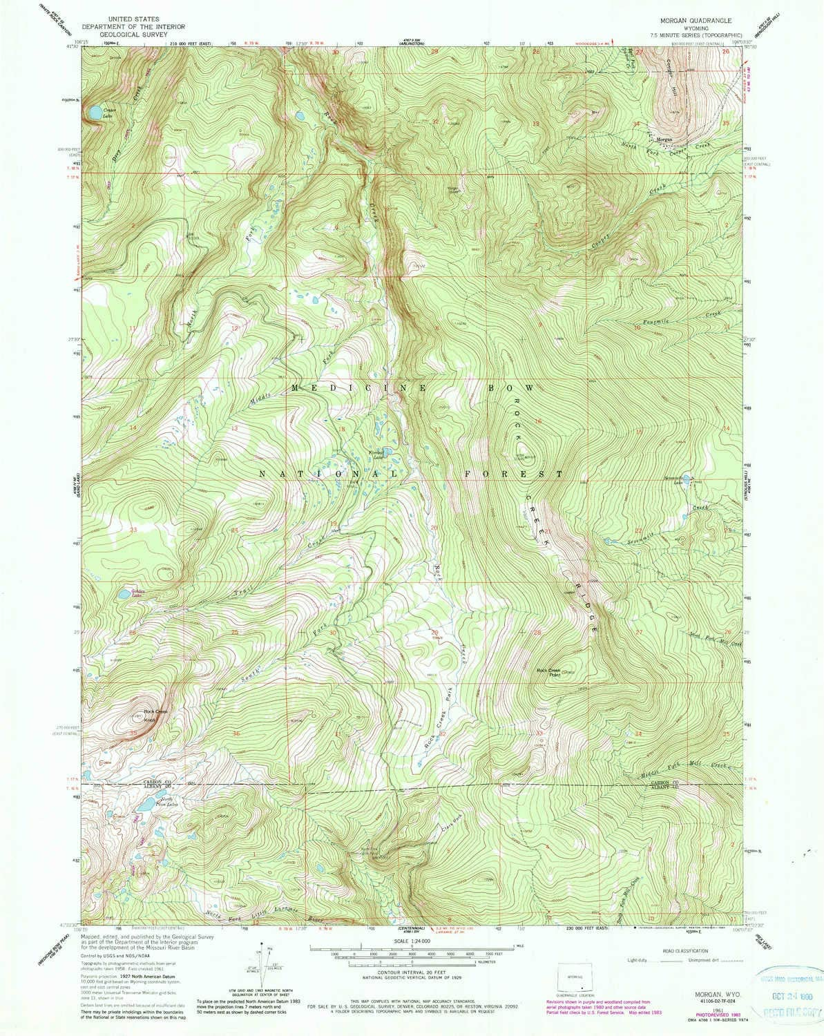 YellowMaps Morgan WY topo map 1:24000 New Shipping Free Scale 7.5 Minute Price reduction X
