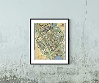 Map|Official Souvenir, New York World's Fair, 1964/1965. by The Editors of Time-Life Books|Vintage Fine Art Reproduction|Size: 20x24|Ready to Frame