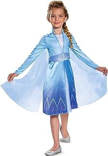 Disguise Disney Elsa Frozen 2 Classic Girls' Halloween Costume, Blue, Small (Ize/4-6X)