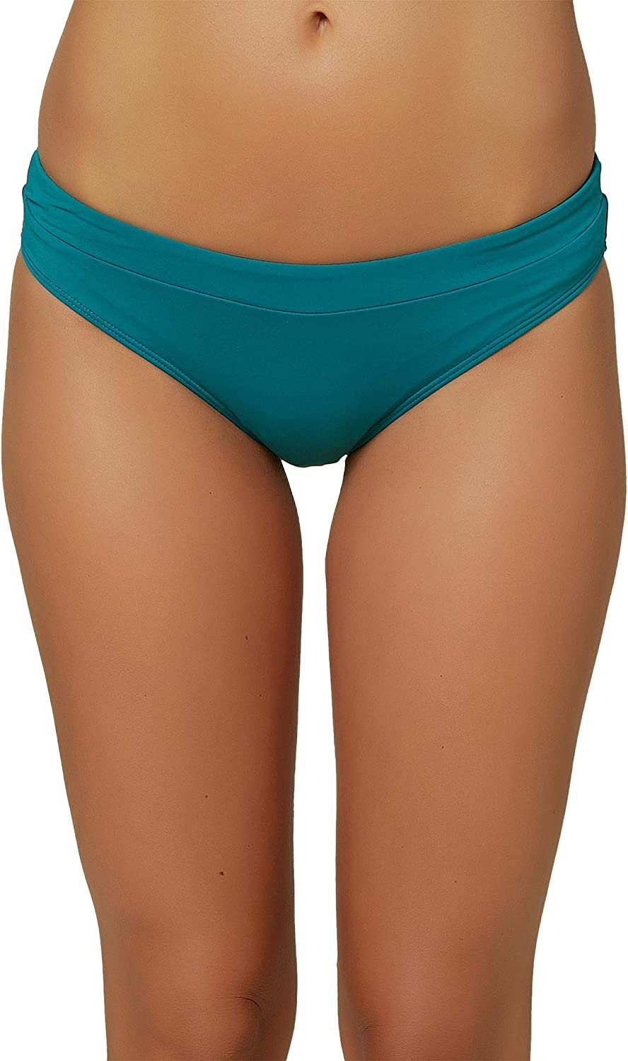 ONEILL Womens Solid Banded Hipster Bikini Swimsuit Bottom