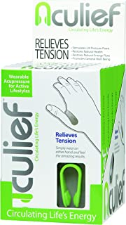 Aculief- Six Pack Display- Award Winning Natural Headache and Tension Relief - Wearable Acupressure (Green))