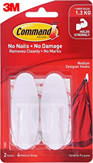 Command Medium Designer Hooks, White
