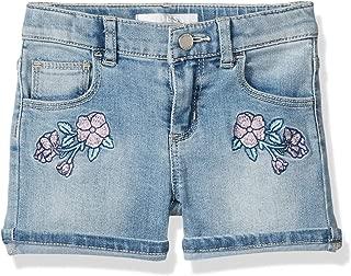 GUESS Girls' Little Embroidered Denim Shorts