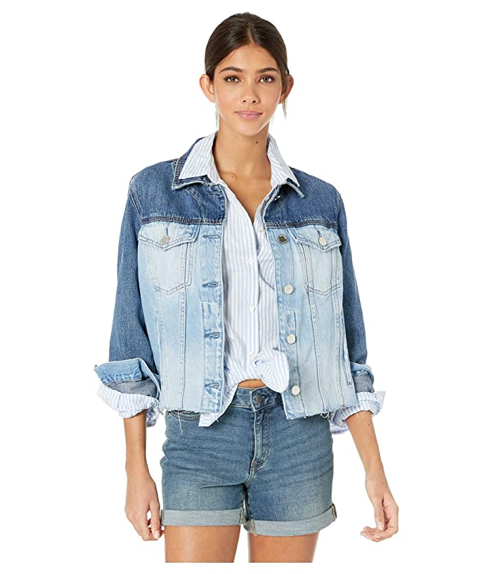 Blank NYC Two-Tone Denim Jacket in Chaser (Chaser) Women