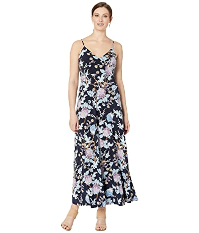 Vince Camuto Poetic Blooms Cami Maxi Dress (Classic Navy) Women