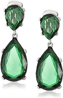 Kenneth Jay Lane Silver Teardrop Earrings