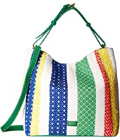 Frances Valentine - New Medium June Woven Stripe Hobo