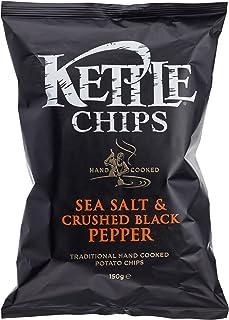 Kettle Chips Sea Salt & Crushed Black Pepper, 150 g