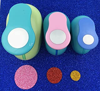 TECH-P Creative Life Set of 3PCS Circle (5/8 inch+1 inch+1.5 inch) Craft Punch Set Round Paper Punch Punch Craft Scrapbook...