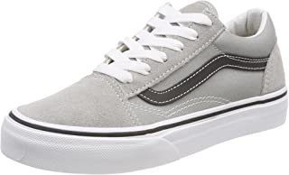 Vans Kids Old Skool VN0A38HBQ7L Drizzle/Black Skate Shoes