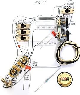 Fender Vintage '62 Jaguar Wiring Kit - Pots Switch Slider Caps Bracket Diagram