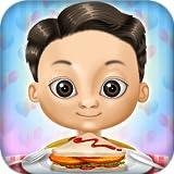レストラン ハンバーガー、バーベキュー串、アイスクリームや飲み物:食べ物を準備!子供と女の子のための教育ゲーム