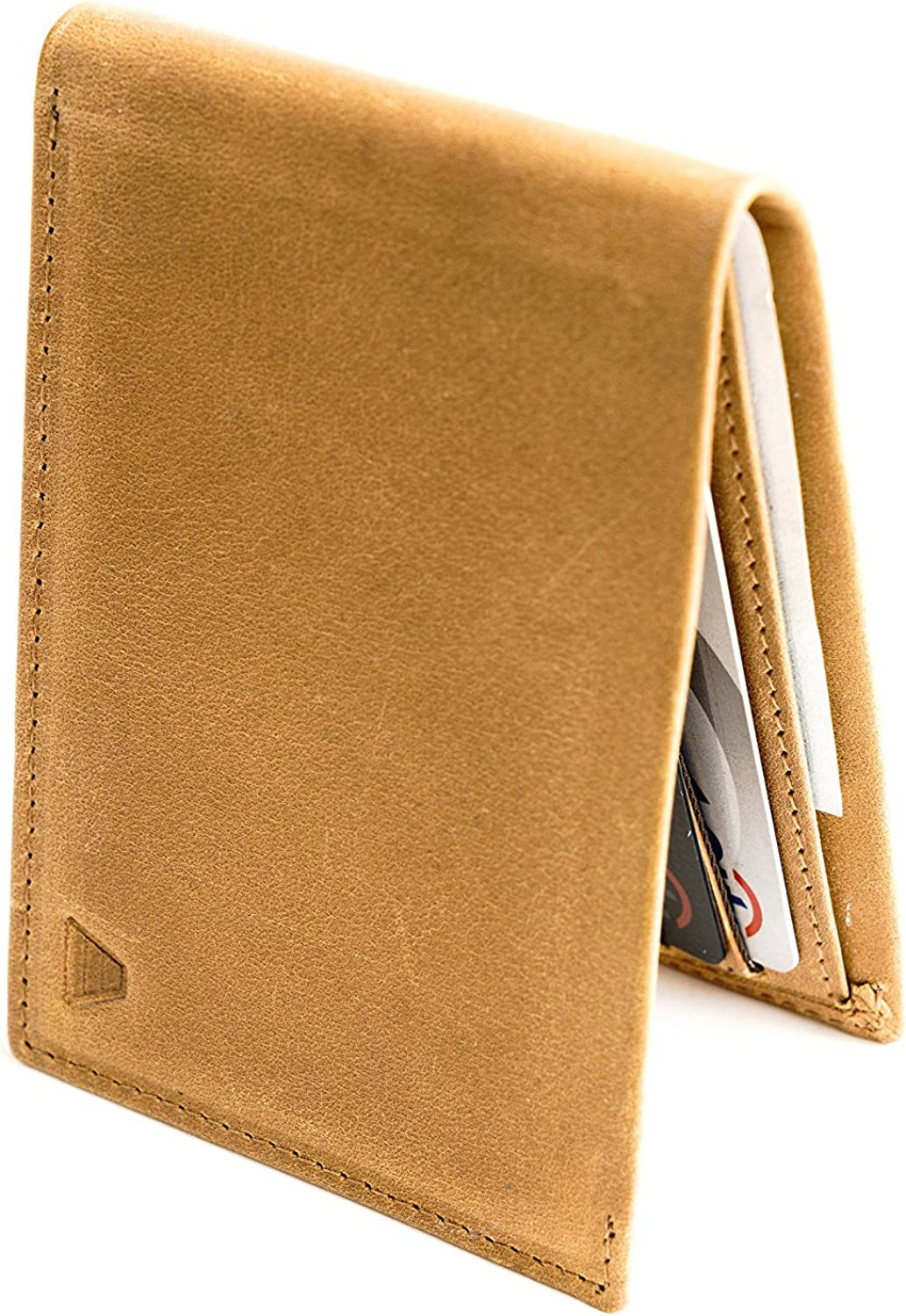 Andar Leather Slim Bifold Wallet With RFID Block Made of Full Grain Leather- The Ambassador