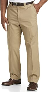 by DXL Big and Tall Straight-Fit Waist-Relaxer Stretch Twill Pants