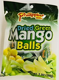 Philippine Brand Dried Green Mango Balls, 3.5 Ounce