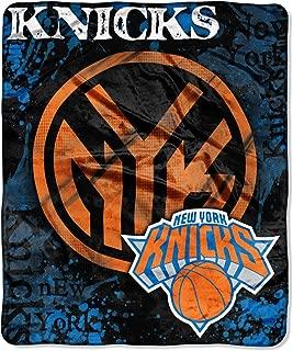 The Northwest Company Officially Licensed NBA New York Knicks Dropdown Plush Raschel Throw Blanket, 50