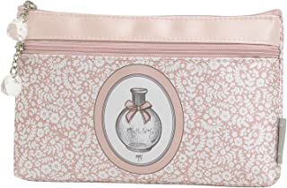 Mathilde M: bolsa de almacenaje de maquillaje Mademoiselle Marquesa rosa–estuche escolar con cremallera para mujer