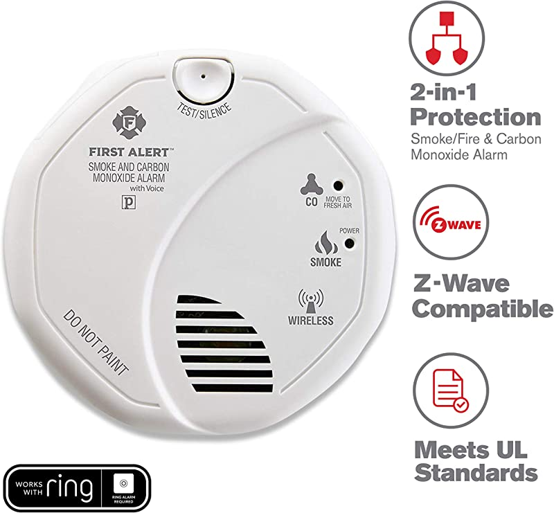 First Alert 2 In 1 Z Wave Wireless Smoke Detector Carbon Monoxide Alarm Battery Operated