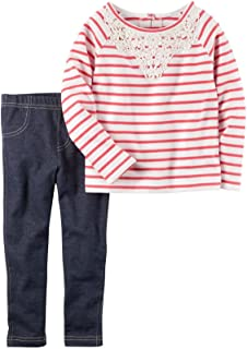 Carter 's Girls ' 2?Piece French TerryストライプTop