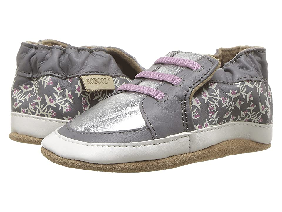 Robeez Sassy Sophie Soft Sole (Infant/Toddler) (Grey) Girl