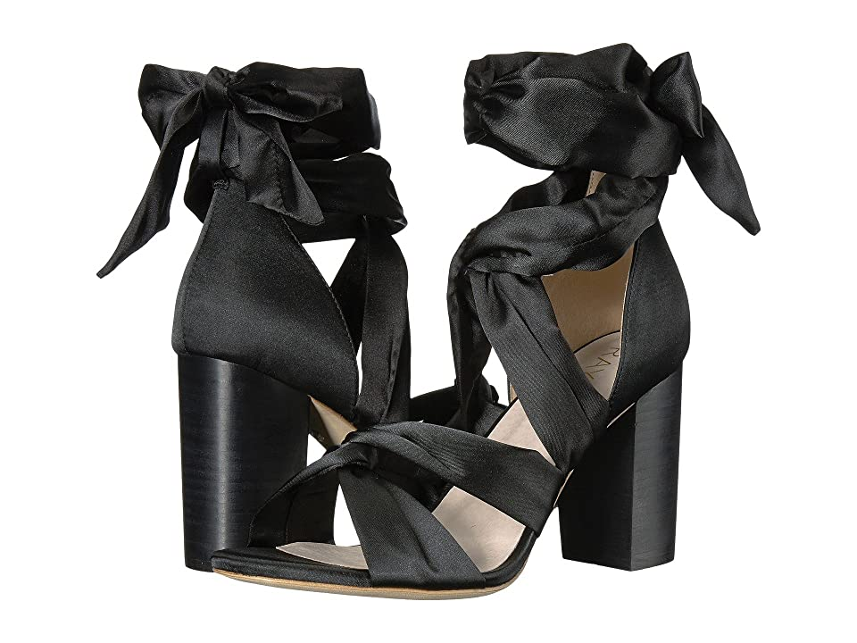 RAYE Myra (Black Satin) High Heels